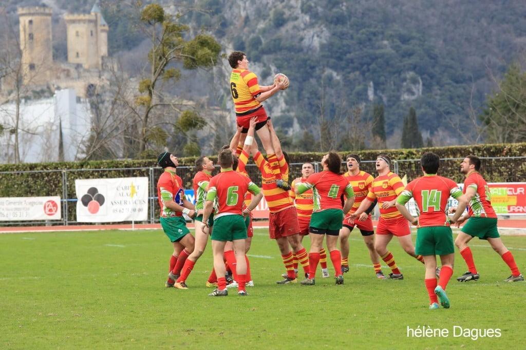 Foix était une véritable forteresse imprenable dimanche. Victoire 23 à 0 (photo Hélène Clactaphoto)