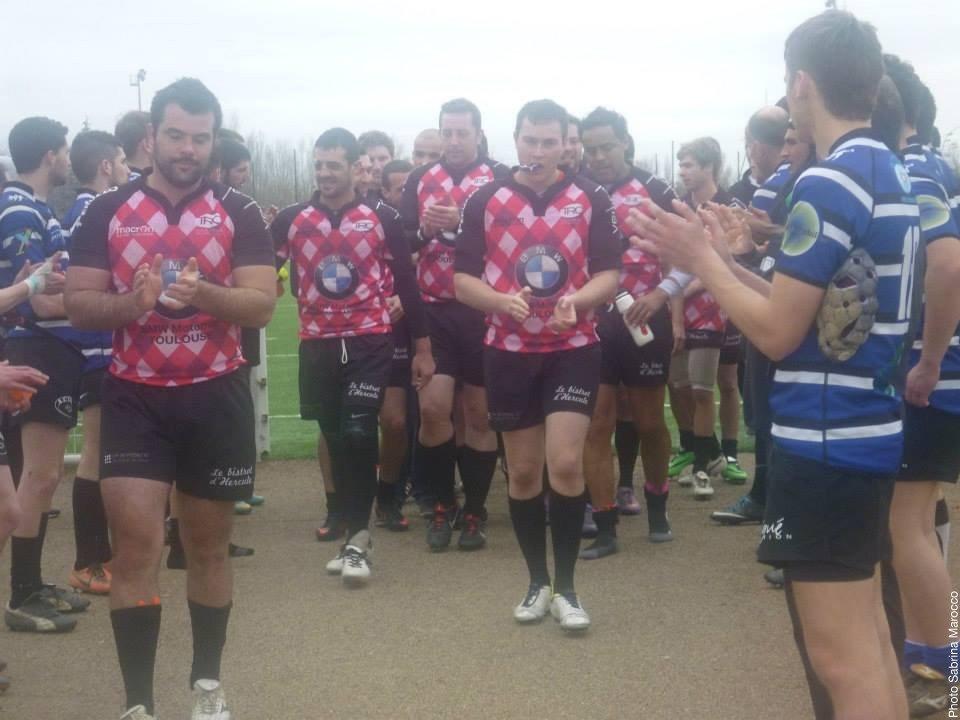 Un petit clin d'oeil au Toulouse Rugby Club, qui après sa victoire face au XV de la Save, a composté son ticket pour la 3ème série (photo Sabrina Marocco)
