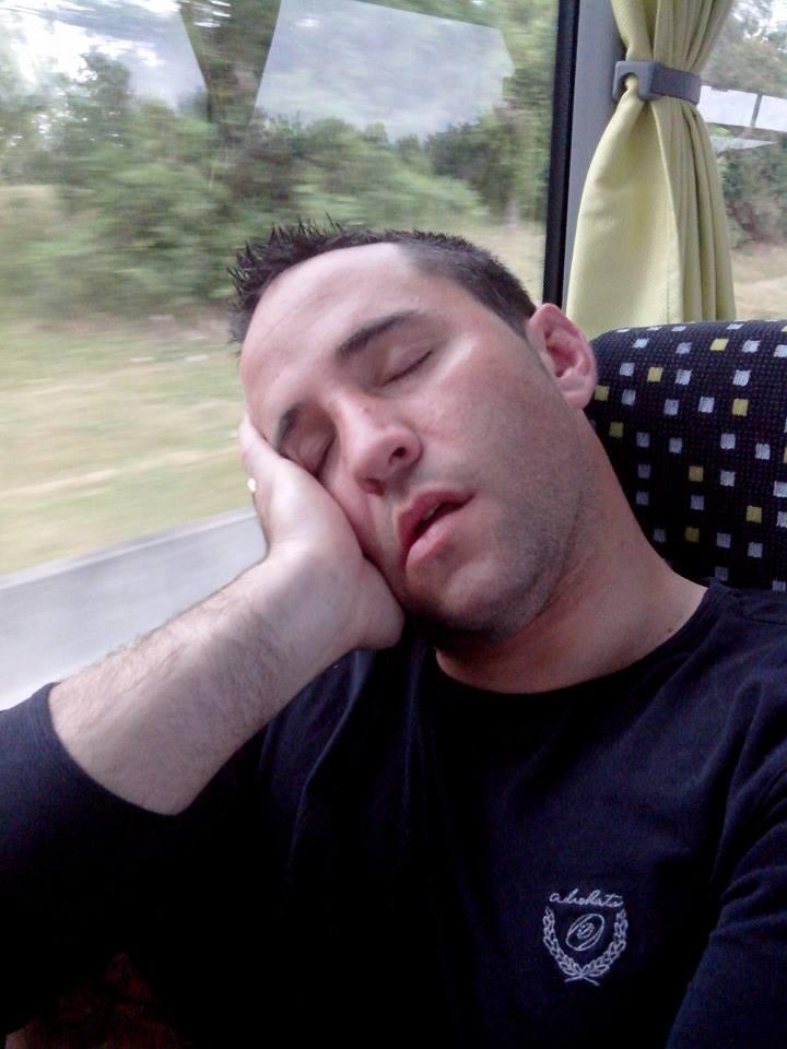 Photo prise avant le match historique pour Quint-Fonsegrives. Pierre Escautier s'est endormi dans le bus, mais pas sur le terrain, avec un essai décisif marqué en fin de match
