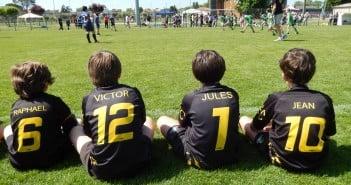 Déjà la notion d'équipe, déjà la passion du rugby !