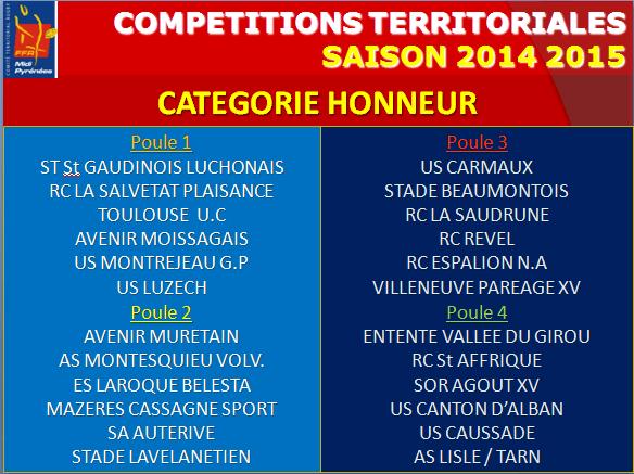 Poule Honneur 2014-15