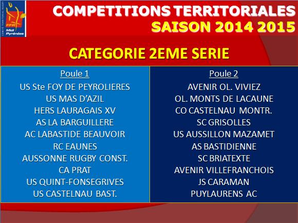 Poules 2ème série 2014-15