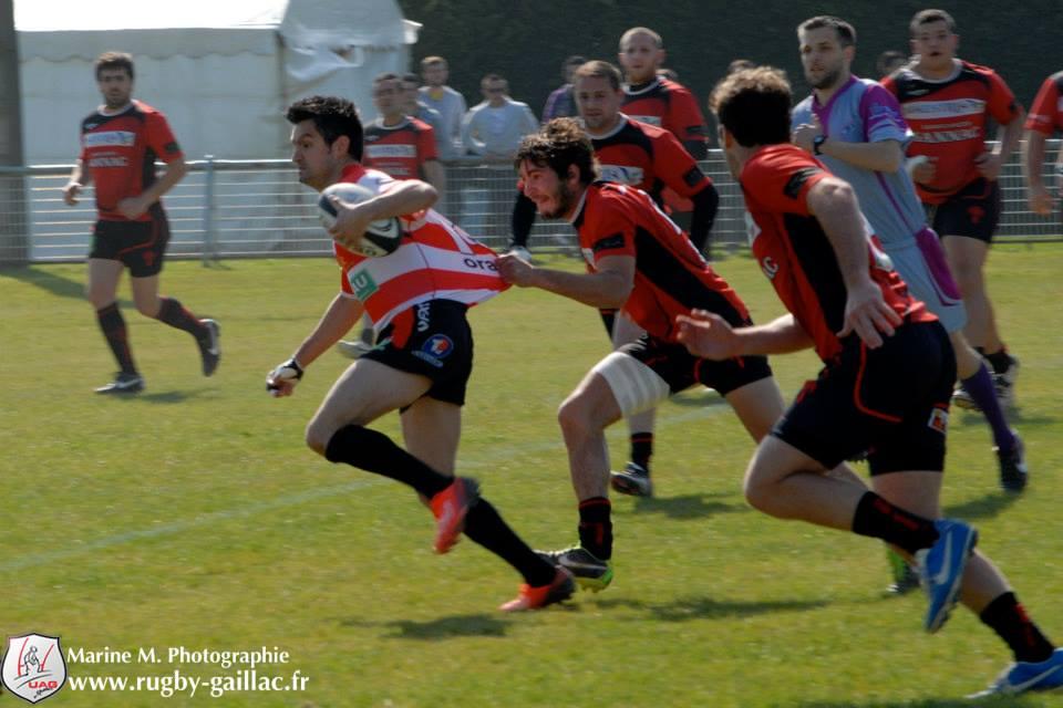 Saverdun s'est accroché jusqu'au bout pour battre Gaillac (photo Marine Michel)