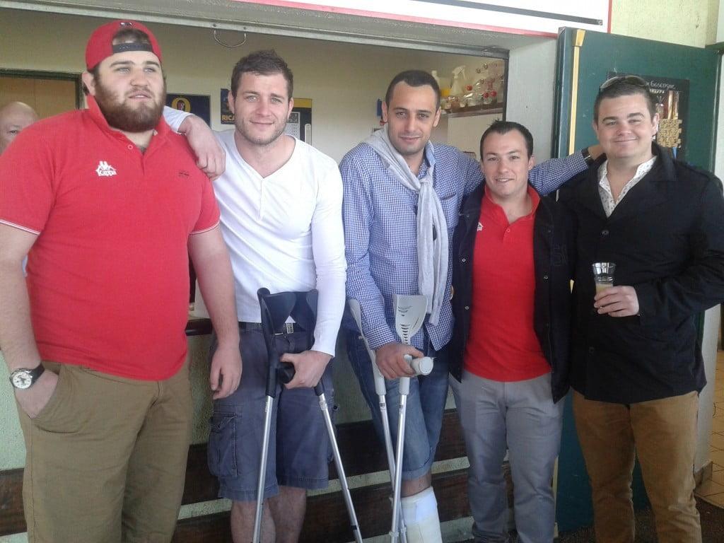 Abeilhou (menisque), Keidel (cheville), Piu (fracture maléole), Garrigues (cervicales), et Ilbert (cheville) : les blessés de Saint-Orens soutiennent les valides