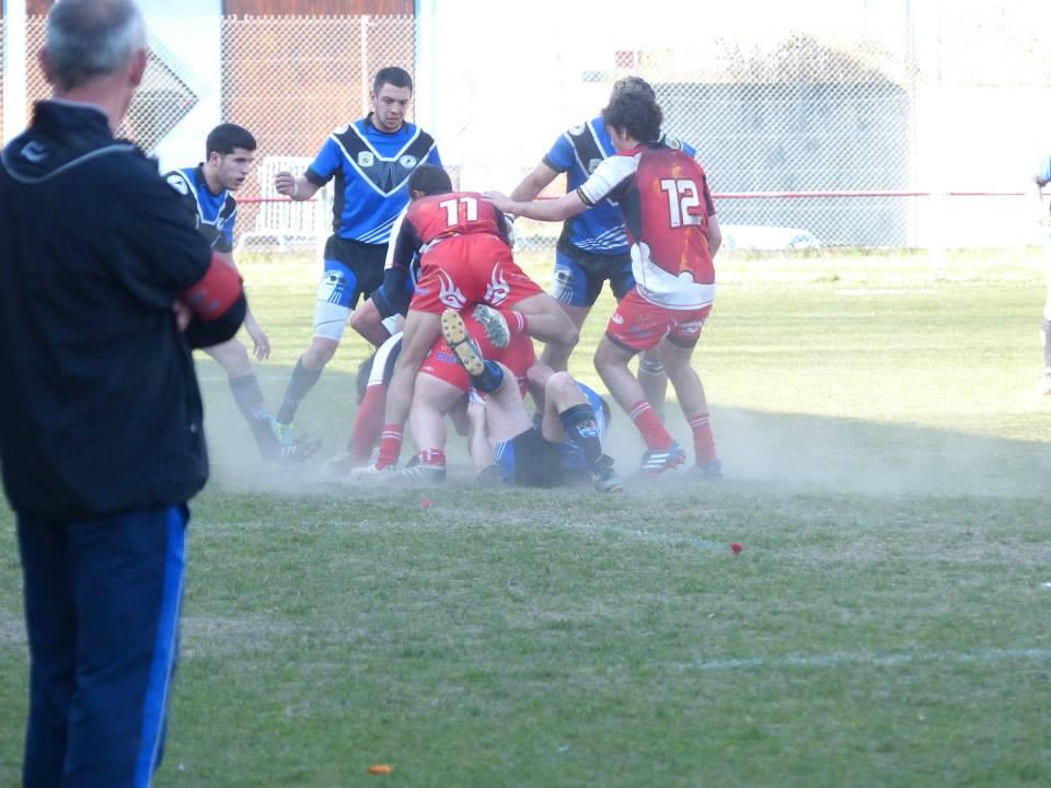 A Tarascon, Cazères a vu ses espoirs de qualification s'envoler en fumée (photo S. Lafranque)