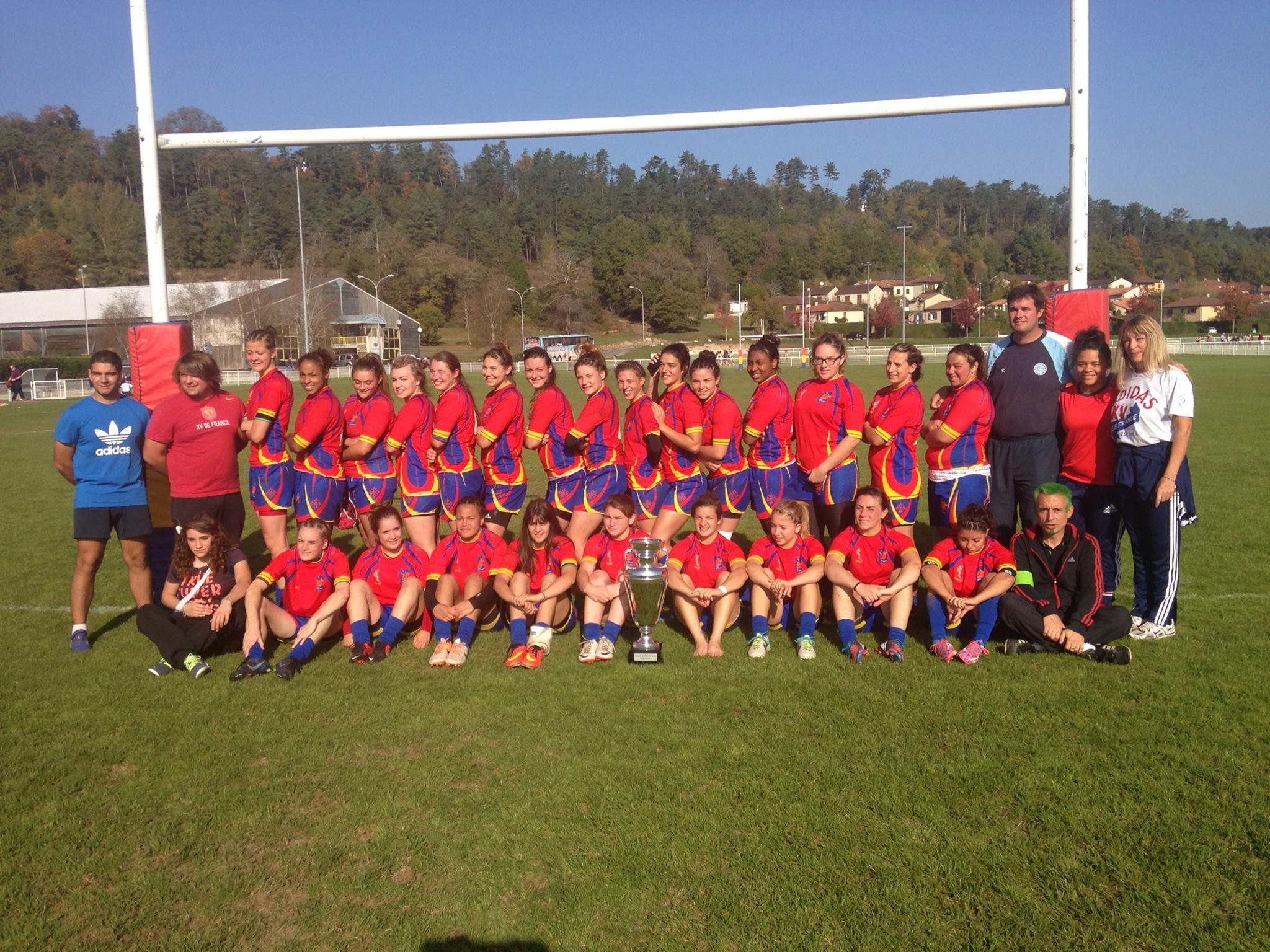 Féminines La Sélection Grand Sud U20 Championne De France Rugby