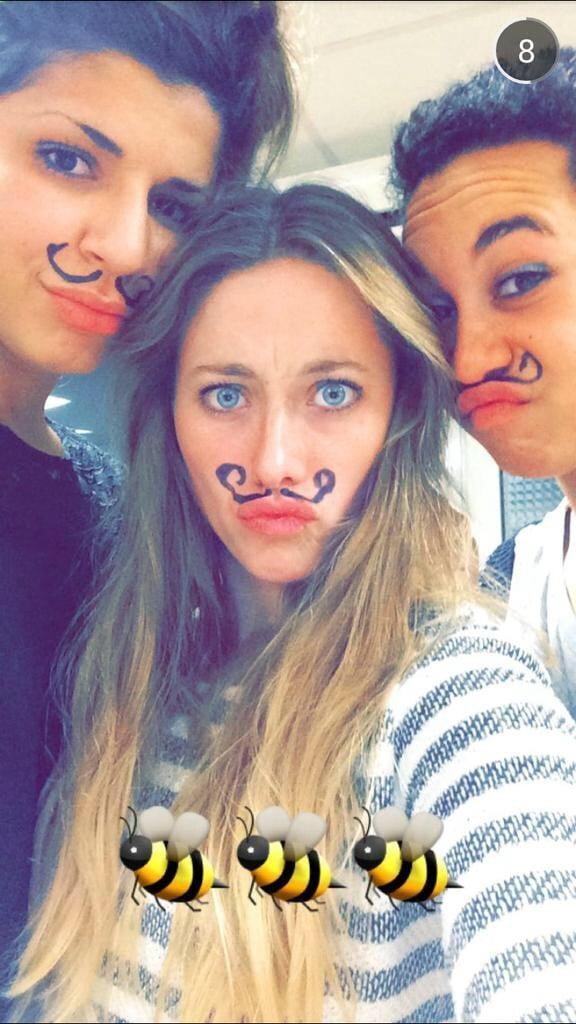 Lamia Oufkir, Marion Margarit et Jeanne Calmeil des Grenad'Ovalines du GS....