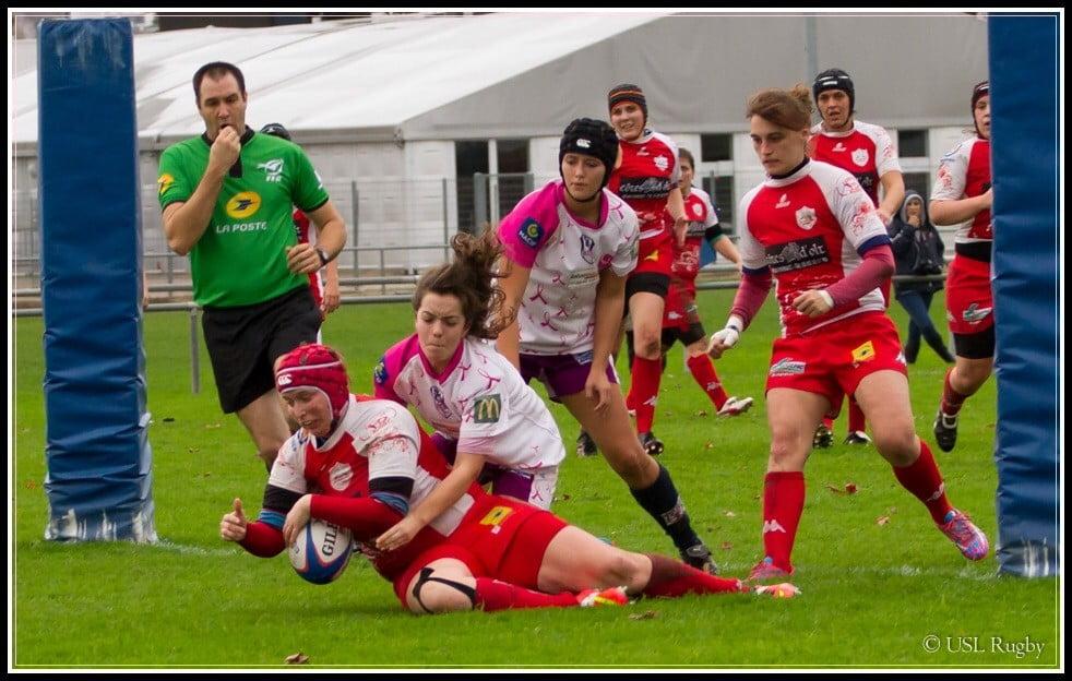 Les Infernalles ont franchi la ligna à quatre reprises (photo USL rugby)