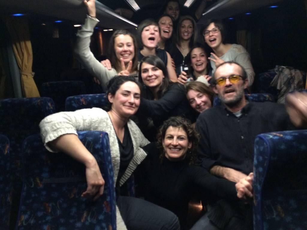 Malgré la défaite et un long retour en bus, les Cocottes du Fousseret n'ont pas perdu le sourire