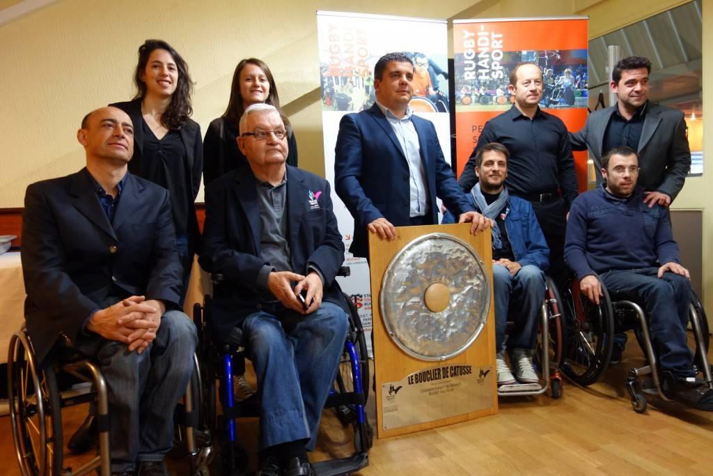 Merci à tous nos invités et à Jean-Marc Ferrandi pour participation au tirage au sort des poules de la CDF 2015