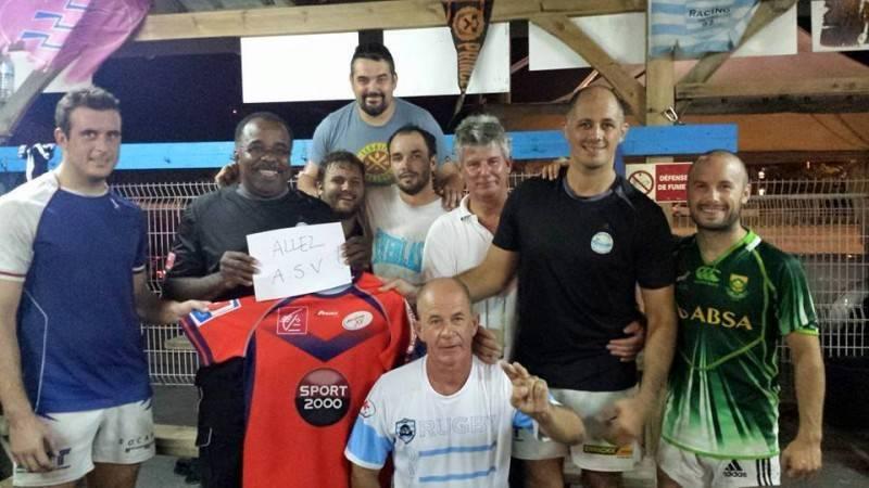 Matthieu Burel et le Rugby Club Diamant Martinique soutiennent l'ASV (et leur future recrue Fabien Atché) !