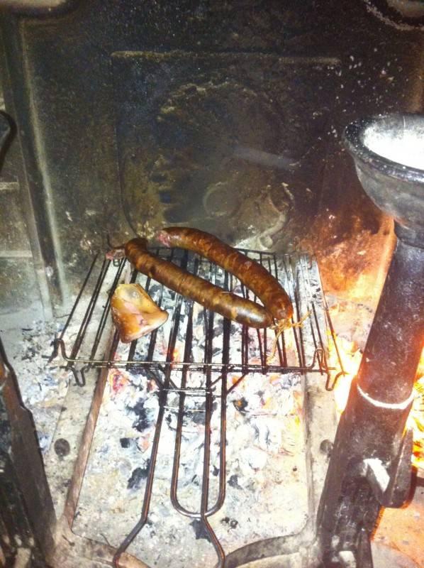 figatellu à la cheminée