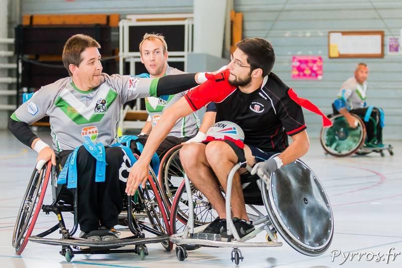 Les toulousains de la section XIII fauteuil auront fort à faire en Elite 1 cette saison. Crédit photo  Loic Tripier Pyrros.fr