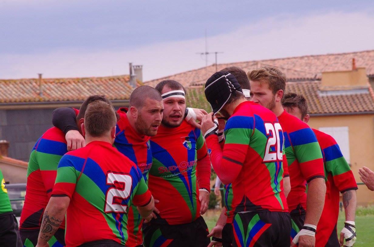 Saint-Lys est resté soudé jusqu'au bout pour marquer l'essai de la gagne en fin de match (photo club)