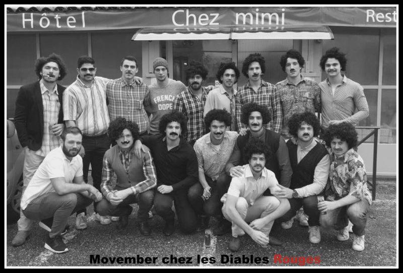 Négrepelisse en 1973 ? Non, non, en 2016, samedi dernier. Movember groupé !