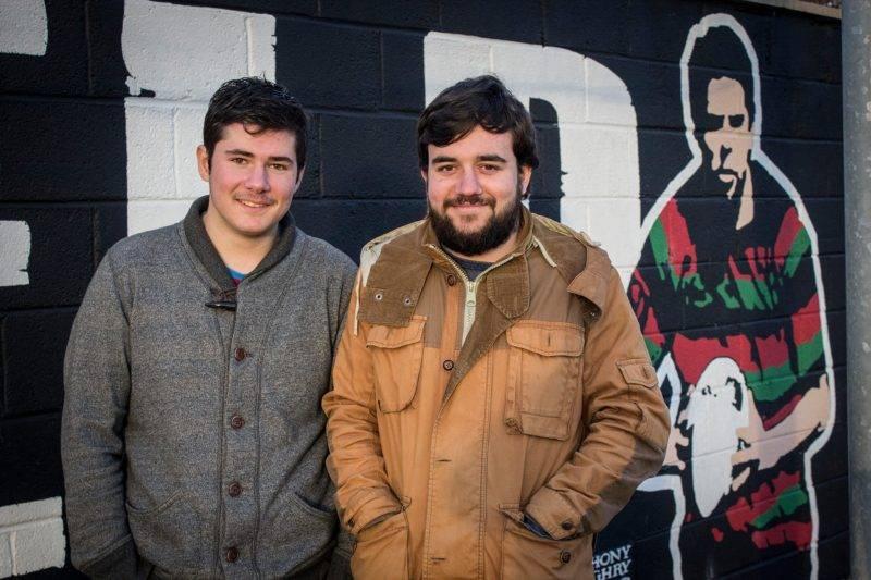 Clément à gauche et Alexis à droite, heureux de leur périple irlandais