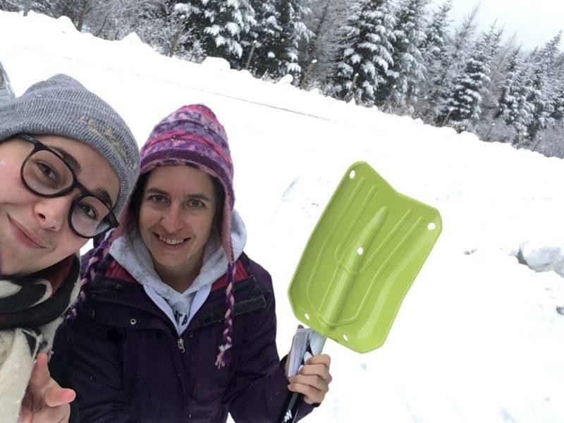 les reines des neiges du plateau de Sault ont réussi à rejoindre leurs coéquipières du RCF Pays d'Olmes pour aller jouer contre le TCMS.