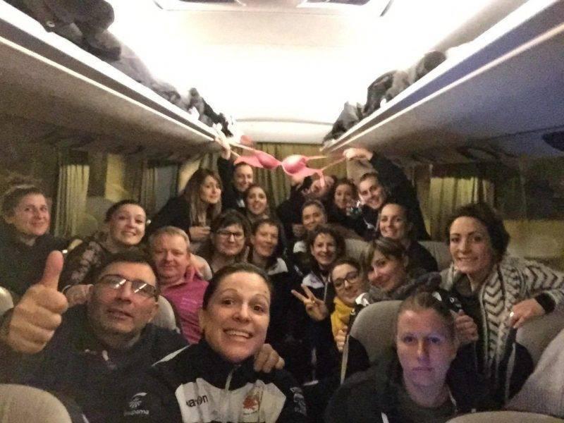 retour en bus depuis Toulon . Nous avons gagné à St mandrier 0-13 pstr
