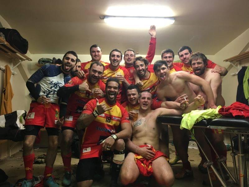 Equipe réserve victoire 20-15 contre bassin d'arcachon