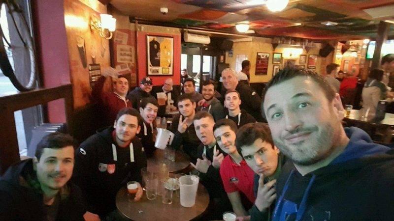 Selfy des Belascains du RSC XV après la victoire bonifiée contre le Tuc