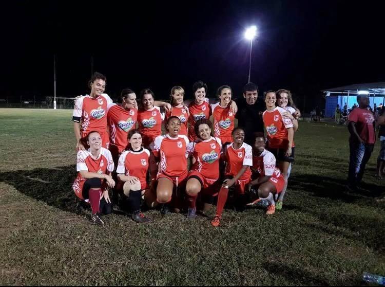 La section féminine de la Gauloise Rugby de Trinité Martinique
