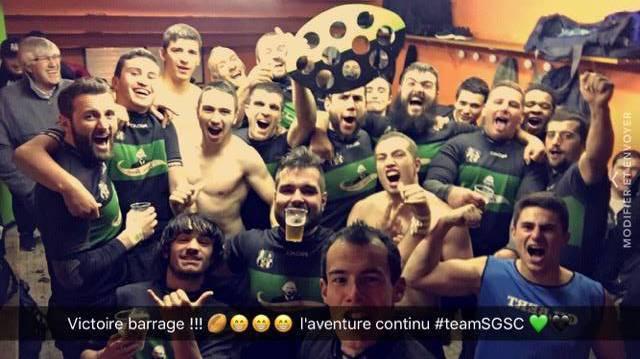 Équipe réserve du SGSC victorieux 43 3 face à st juery qualifié pour les quart de finale midi Pyrénées
