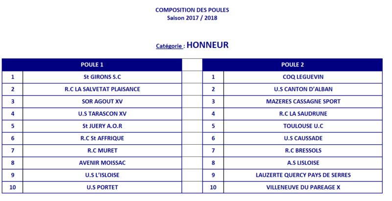 Poule 2017 18 Honneur