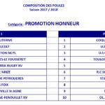 Poule promotion honneur 2017 18