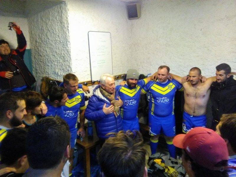 victoire contre le leader inviancu varacieux, et RC Pays Briançonnais 3 eme série Alpes avec le maire