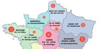 Carte France Ligues
