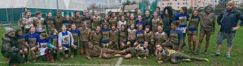 minimes féminines d Albi XV ( SCA ) qui est allé affronté la sélection de l Aveyron a Milliau hier.