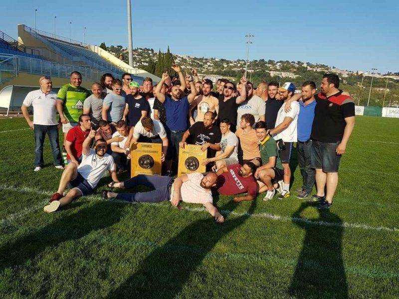 Rugby Club Pierrefeu, Champion Côte d'Azur Réserve et Promotion Honneur. Les 2 matchs contre contre Antibes