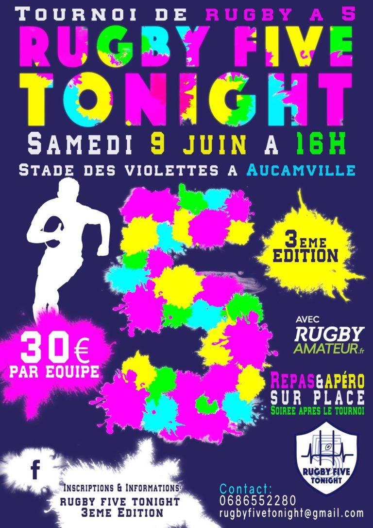Rugby Five Tonight : 3ème édition le 9 juin