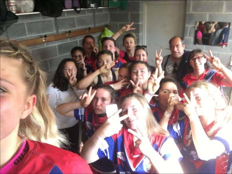 Dernier match du championnat pour les Minimes cadettes de Réalmont victoire 38 8