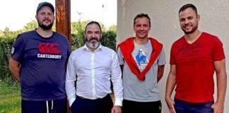 De gauche à droite Lionel Cuila, Alexandre Aymar, Dominique Appy et Yannick Ricardo.