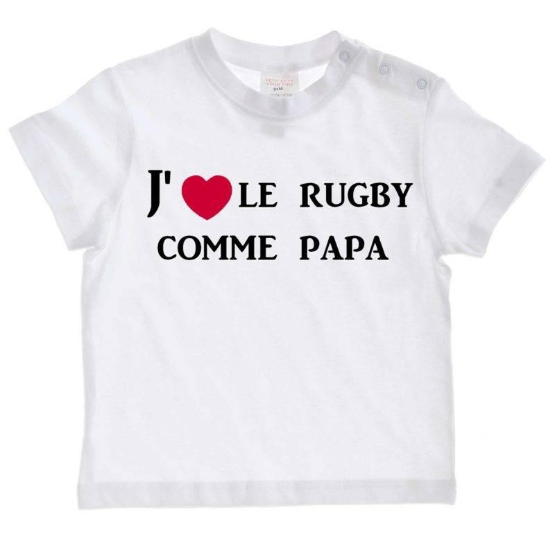 mode bebe tee shirt bebe j aime le rugby co 10253597 loloij 7616f c9621_big