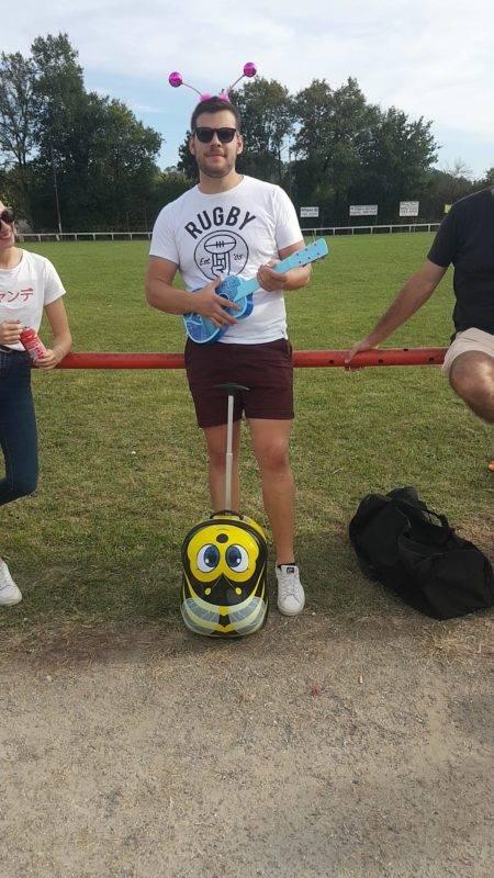 Louis pour ton en avant dans les 5 mètre tu voulais juste pas marquer On t a trouvé un nouveau sac de rugby