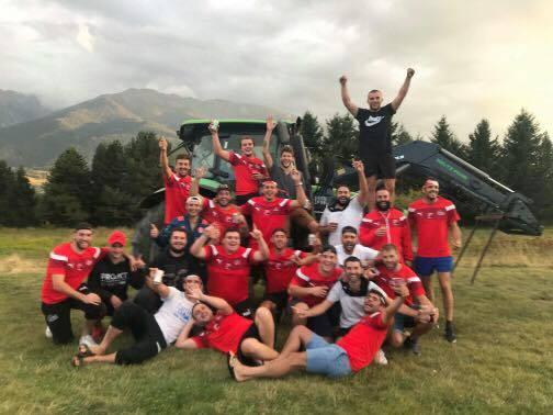 Selfie Tracteur pour le Cotauch Corbieres Victoire 12 8 en Andorre