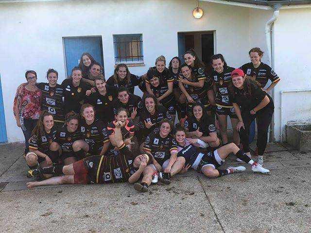 Blacks Ruthènes, féminines du SRA qui, pour leur 2 ème match de la saison restent invaincues en ramenant une victoire de Layrac