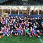 Les 2 équipes du TLA XV réunis pour leurs doubles victoires en Andorre