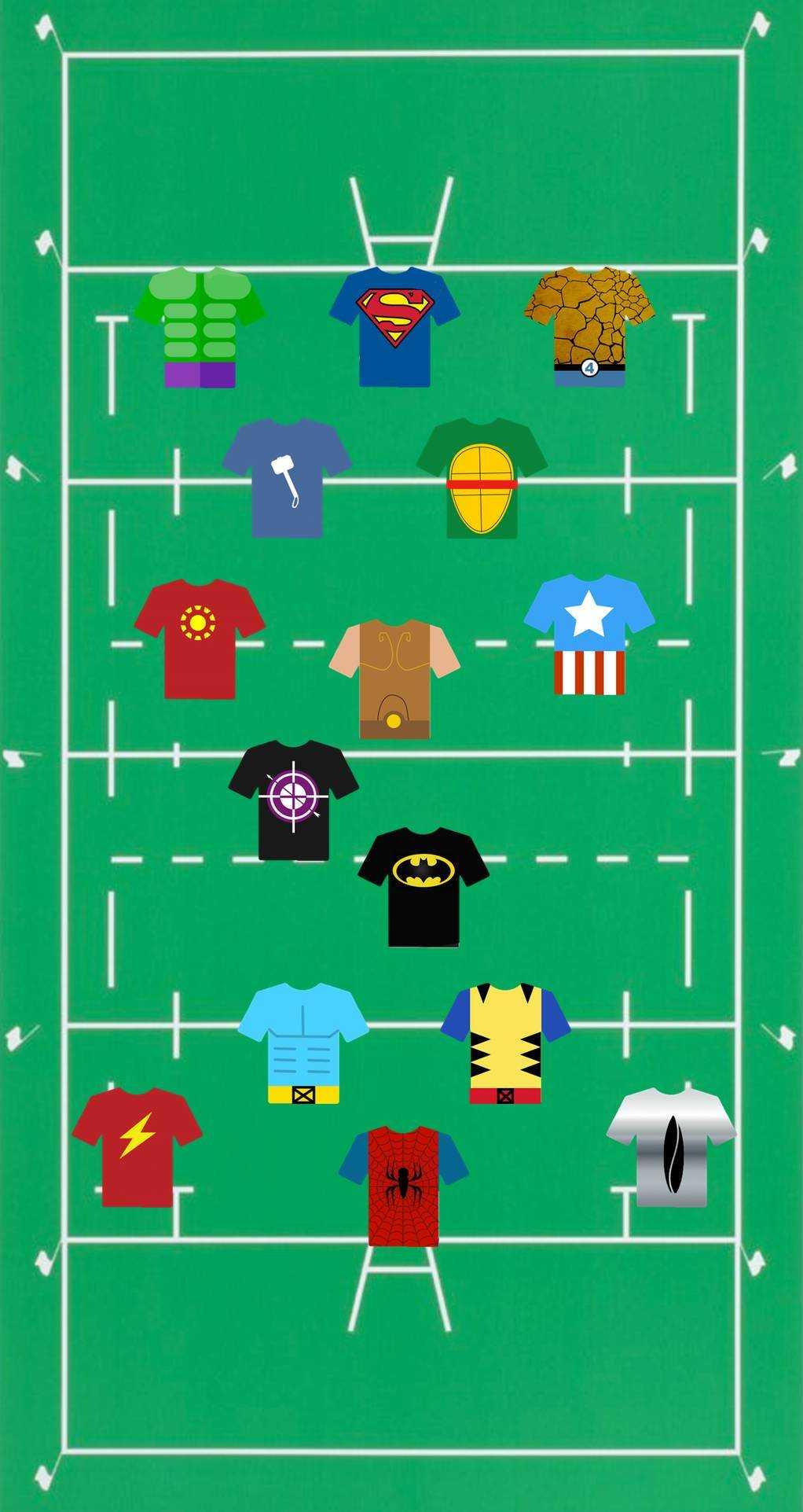 Shop Rugby Superhero Rugby Team