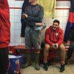 réserve Fédérale 2 Argelès sur Mer contre Gruissan. L'entraîneur des avants se prépare à la pluie. merci Simon