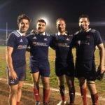 Castanet, FCTT et l'Isle Jourdain réunis sous le maillot de l'équipe de France Universitaire. victoire en italie