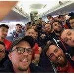 L'équipe masculine du RCMN en route pour Plymouth rugby club marine nationale