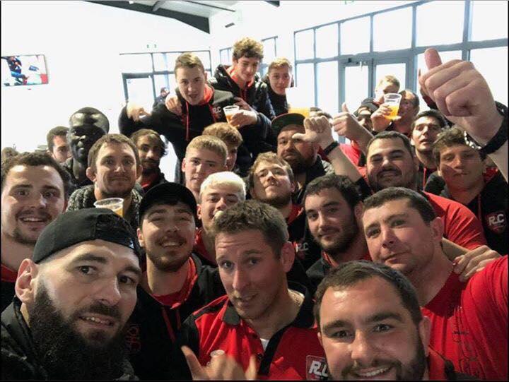 Victoire du Rcpsy à la maison pour l'équipe réserve et première la réserve gagné 35 a 5 et la première gagne 26 a 12 et un petit selfie