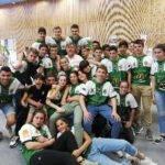 Les cadets et Cadettes de Thuir font le service du colloque Rugby Solidarité à Thuir