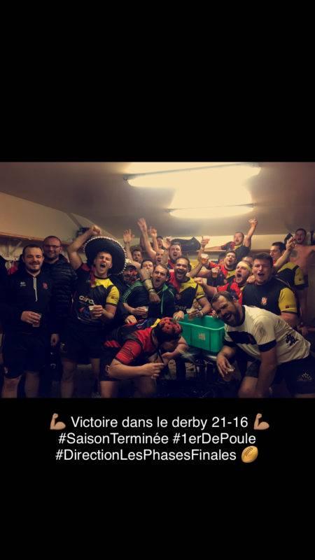 Victoire 21 16 dans le derby L'isle jourdain contre Lombez