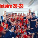 Victoire du Stade Rodez Aveyron sur le terrain de Hyères Carqueiranne hier après midi