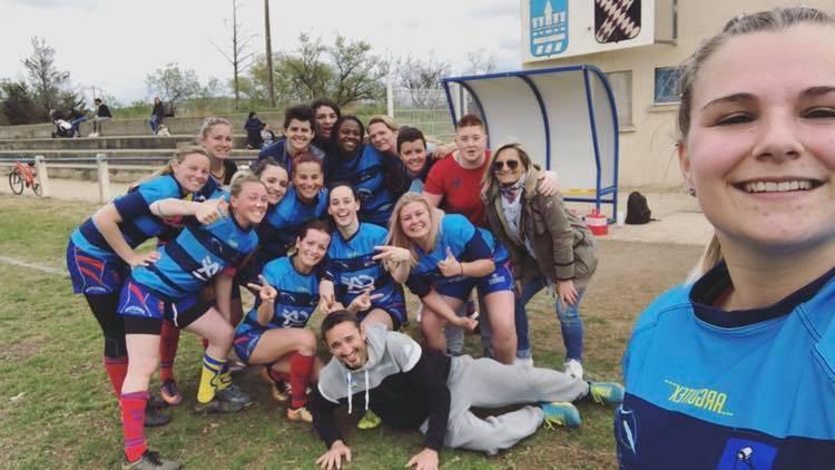 dernier match de poule, les filles de l'USMT (béziers) s'imposent sur le score de 29 à 5 face à Carcassonne
