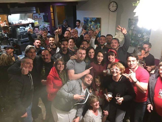 selfie maères après la victoire contre st jean dans le derby